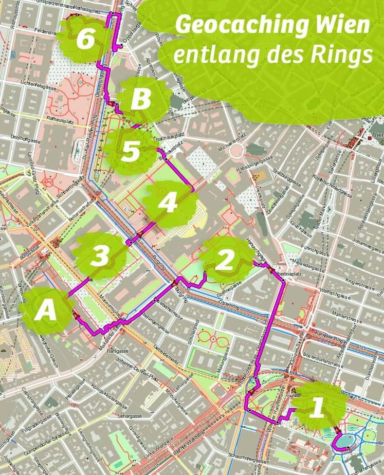 Geocaching Wien Innenstadt Betriebsausflug Firmenevent Teambuilding