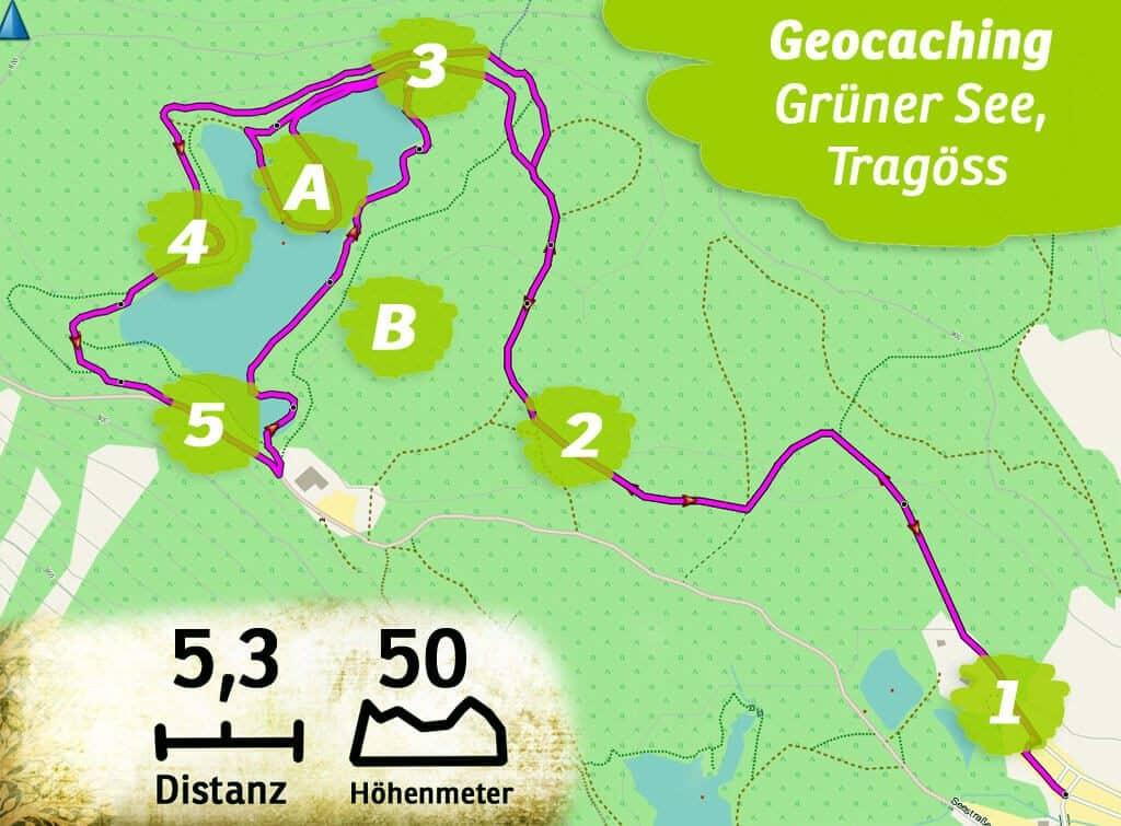 Geocaching teamevent teambuilding gruener see steiermark route kl