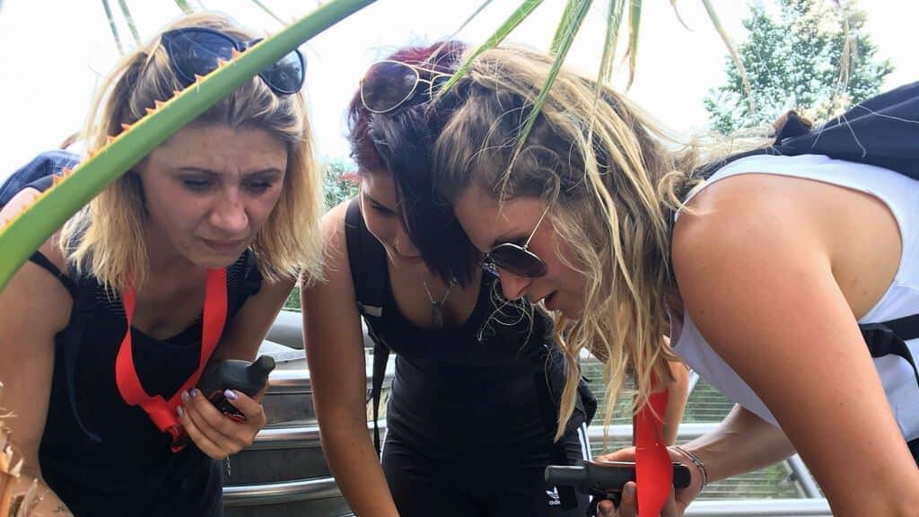 geocaching graz teamevent betriebsausflug team rot sucht