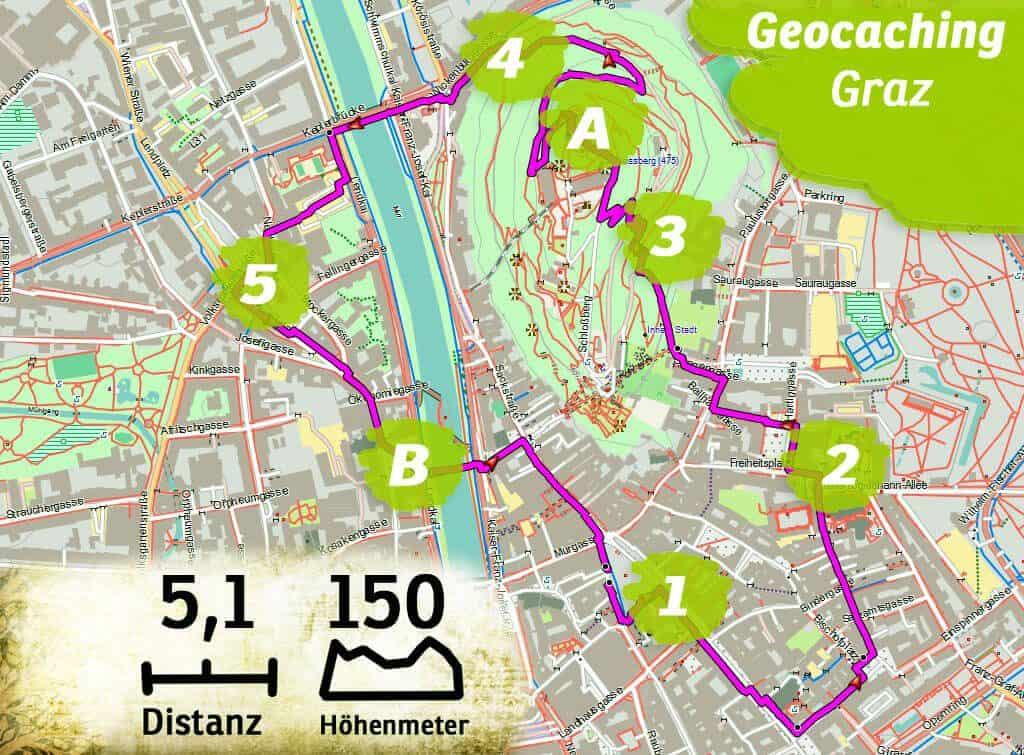 geocaching teamevent teambuilding graz steiermark route kl