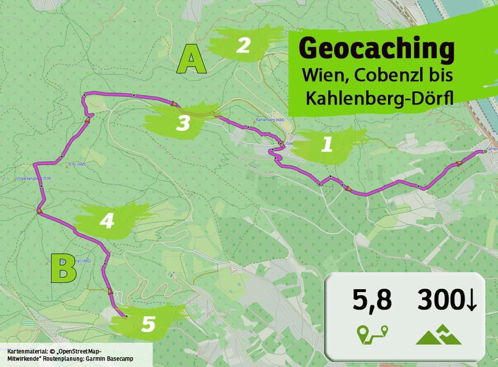 cobenzl nussdorf kahlenberg doerfl teamevent teambuilding betriebsausflug geocaching karte uebersicht