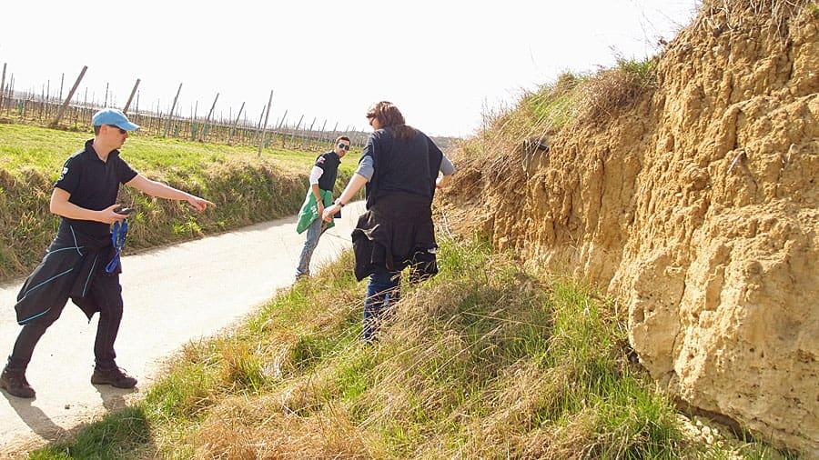 geocaching langenlois kamptal niederoesterreich schatzsuche betriebsausflug side event