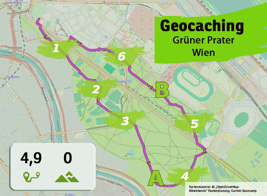 gruener prater wien teamevent teambuilding betriebsausflug geocaching karte uebersicht