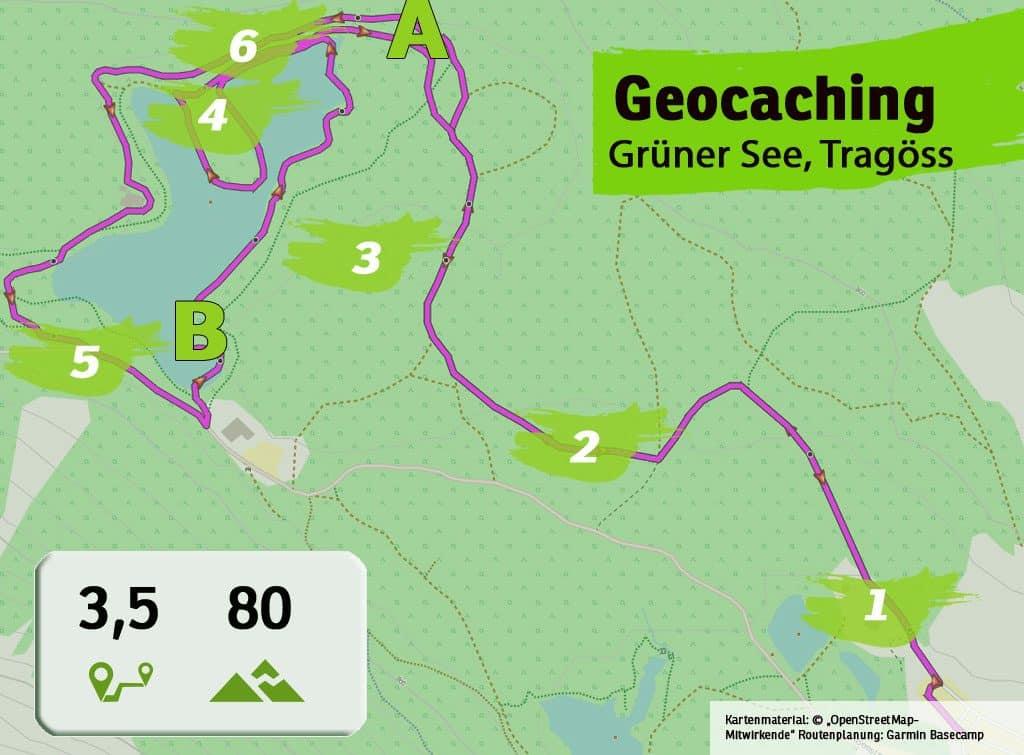 gruener see tragoess teamevent teambuilding betriebsausflug geocaching karte uebersicht