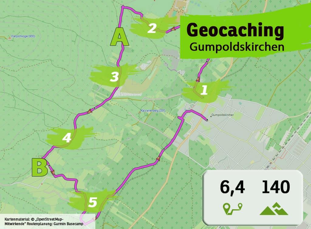 gumpoldskirchen teamevent teambuilding betriebsausflug geocaching karte uebersicht
