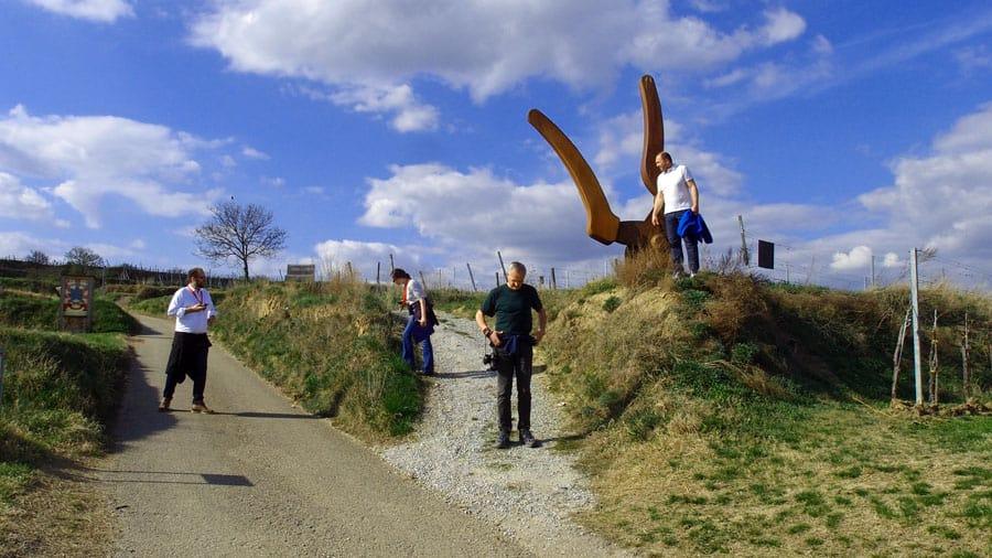 langenlois teamevent geocaching weingaerten kellergasse hohlwege schnitzeljaged gruppe