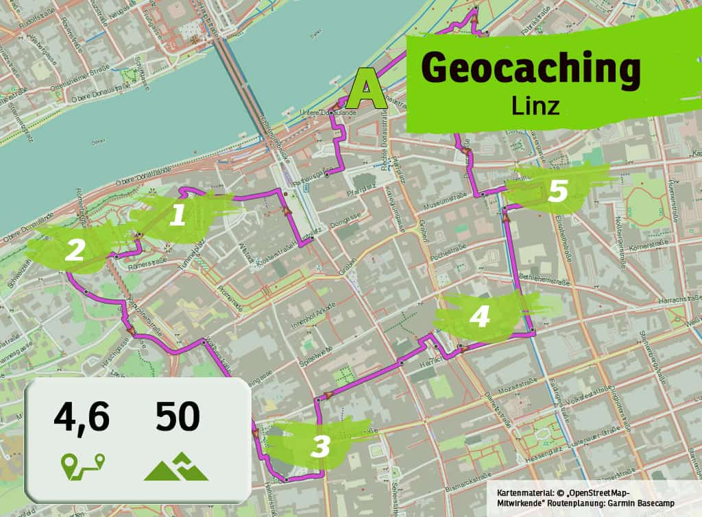 linz teamevent teambuilding betriebsausflug geocaching karte uebersicht