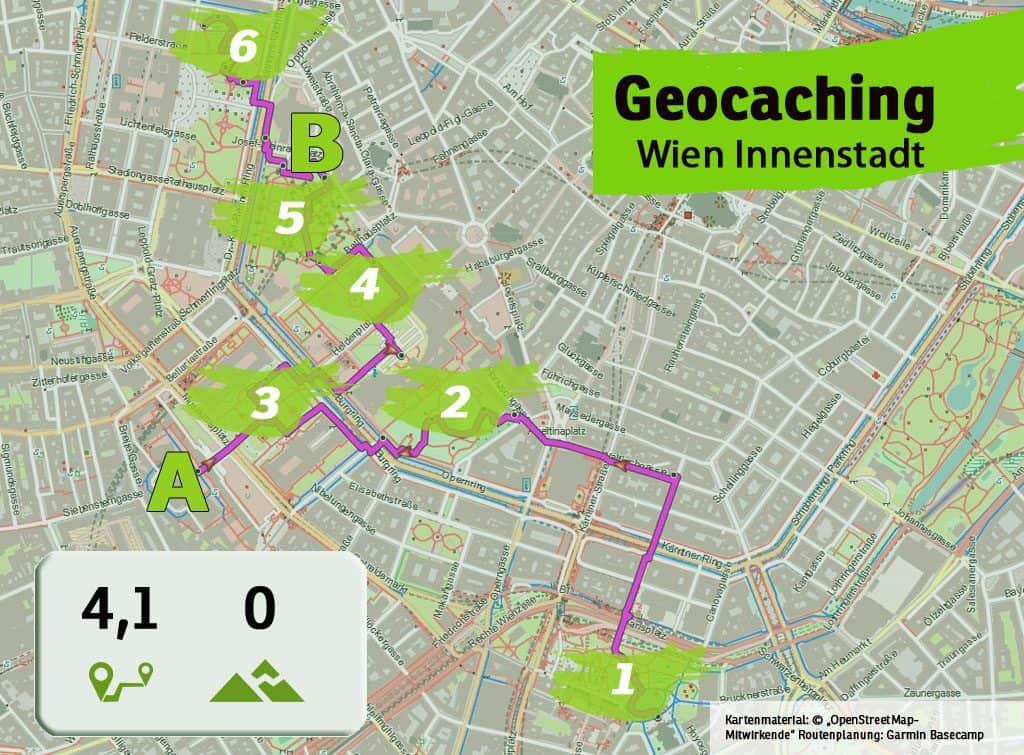 wien city karlskirche rathaus teamevent teambuilding betriebsausflug geocaching karte uebersicht