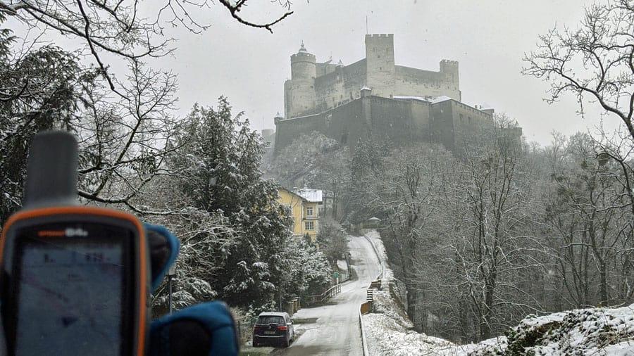 austria salzburg hohensalzburg festung geocaching gps geraet gps spaziergang outdoor incentive teambuilding firmenausflug mgs