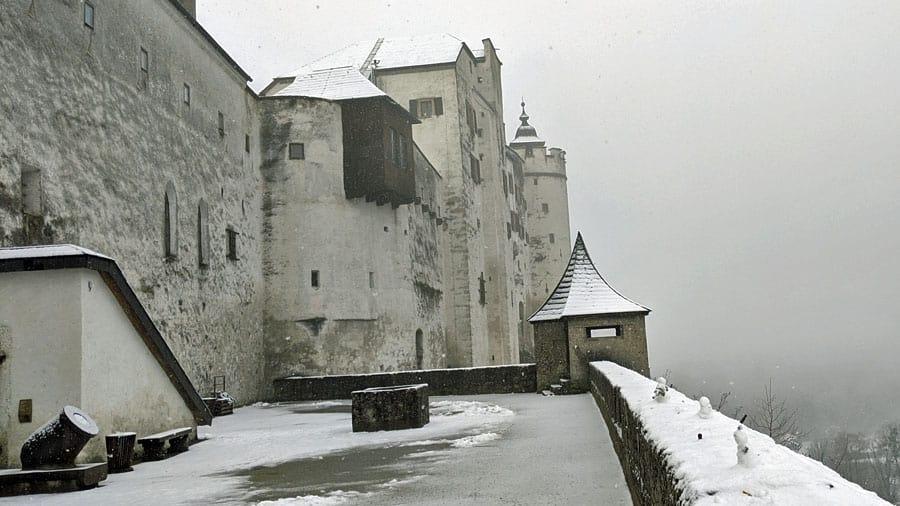 austria salzburg hohensalzburg festung winter schnee geocaching gps schatzsuche firmen teamevent incentive mgs