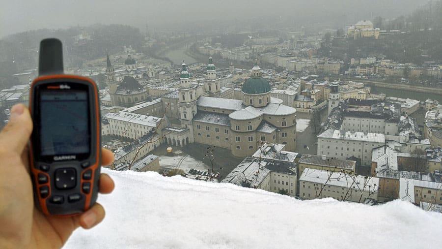 oesterreich salzburg winter altstadt gps geraet geocaching schnitzeljagd quiz gruppen firmenausflug betriebsausflug sideevent mgs