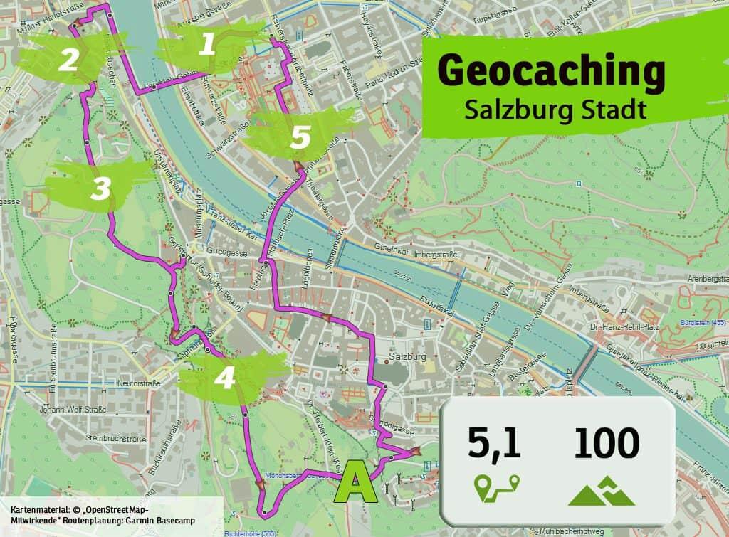 salzburg stadt teamevent teambuilding betriebsausflug geocaching karte uebersicht